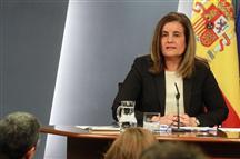 Fátima Bañez en el anuncio de la Tarifa Plana a 100 euros